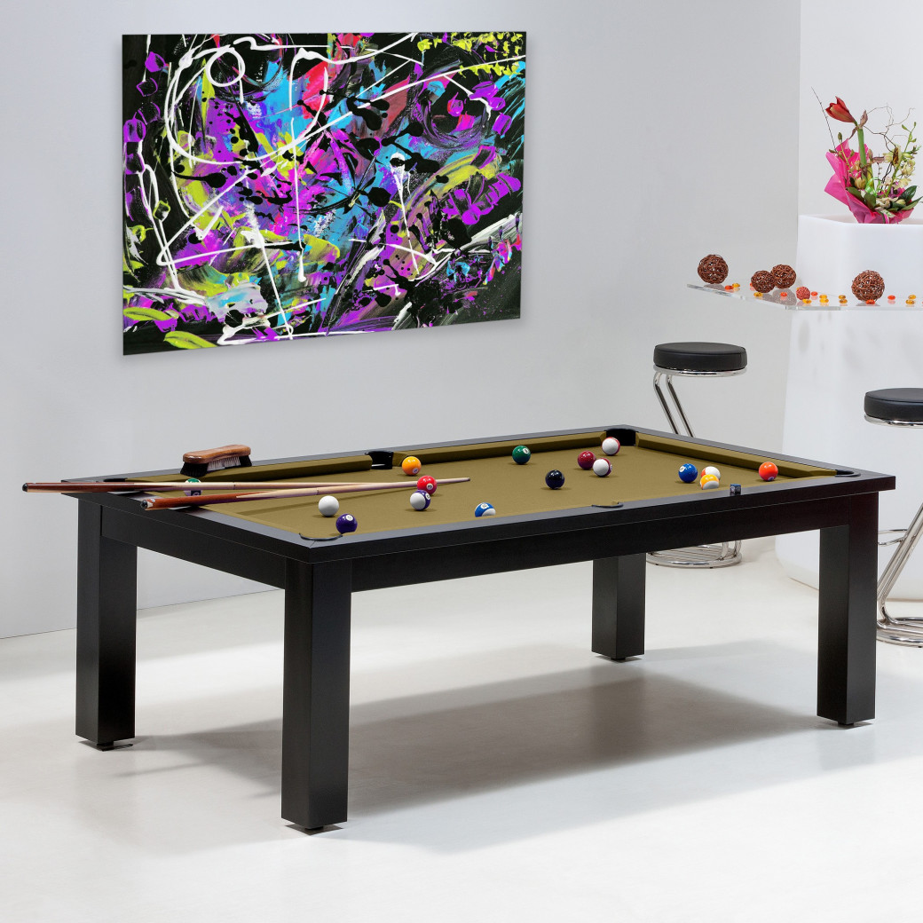 Achat table de billard - Billard de luxe, couleur or