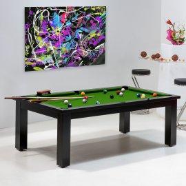 Achat billard pool - Table convertible avec tapis billard vert pool