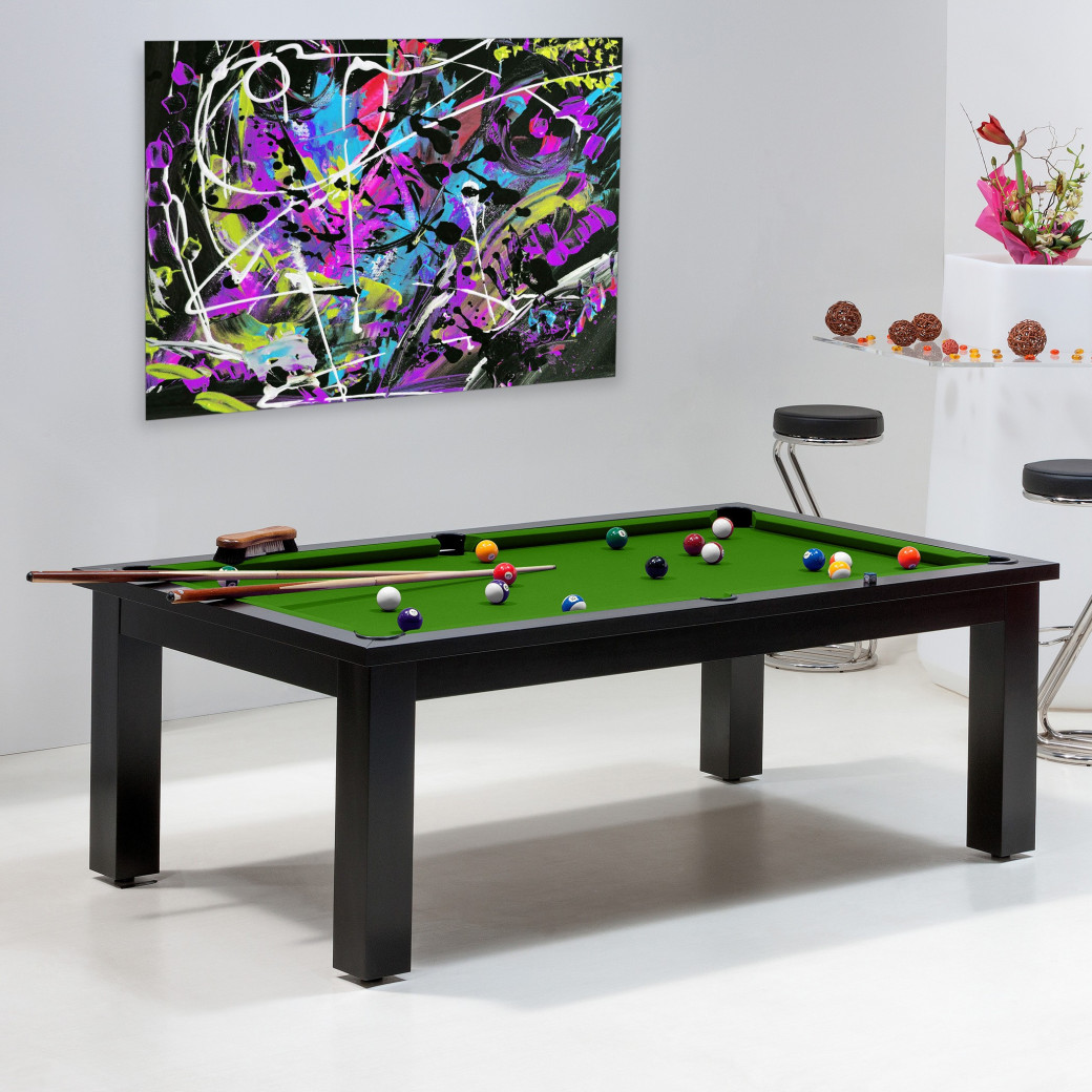 Achat billard pool - Table convertible avec tapis billard vert pool
