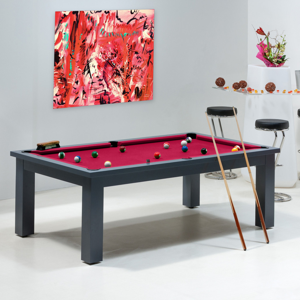 Billard transformable - Billard rouge