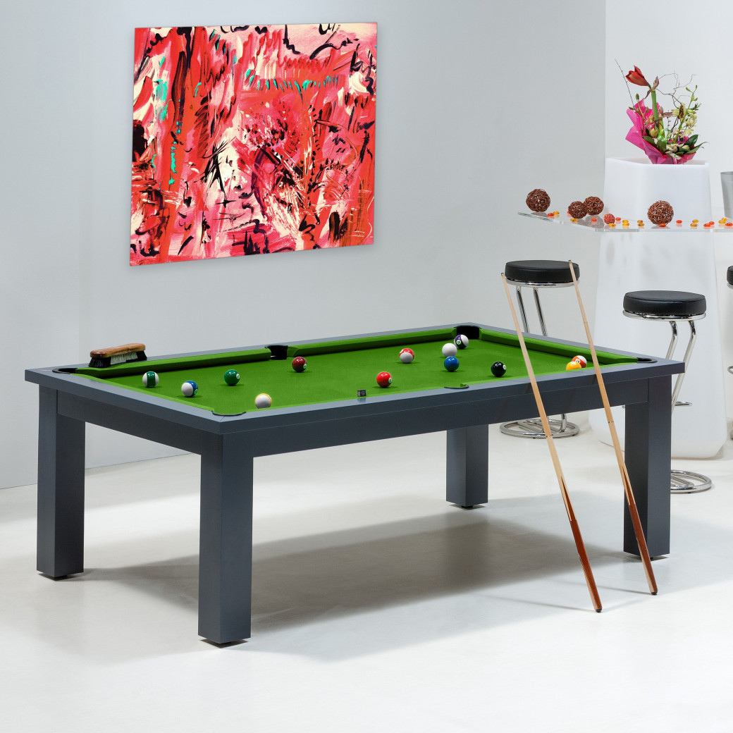 Billards - table et tapis vert pool