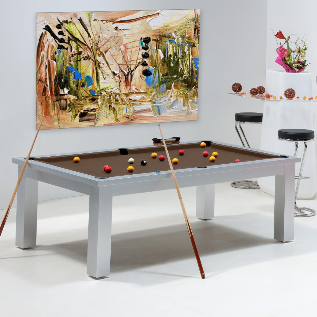 Billard table - tapis billard marron couleur chocolat