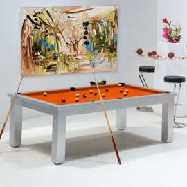 Billards - tables de billard de couleur orange