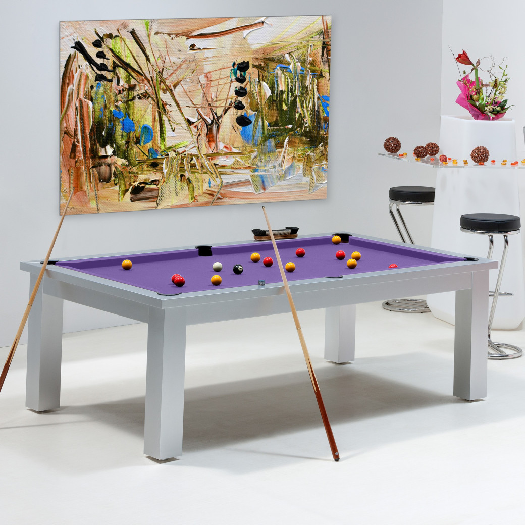 Table billard convertible - Billard violet
