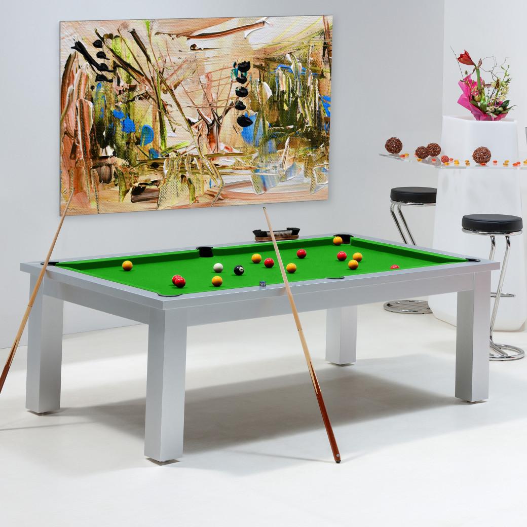 Table de billard convertible - Billard vert pomme