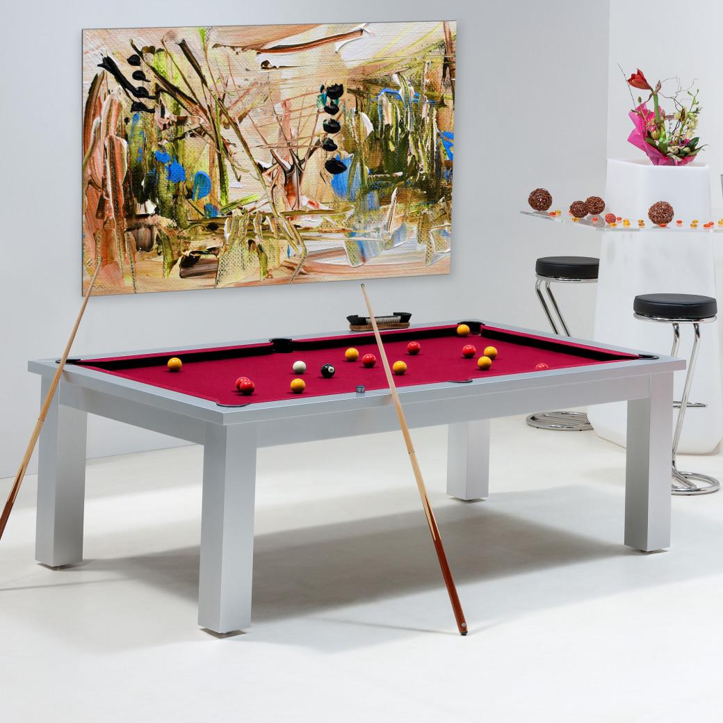 Billard convertible table - Billard rouge