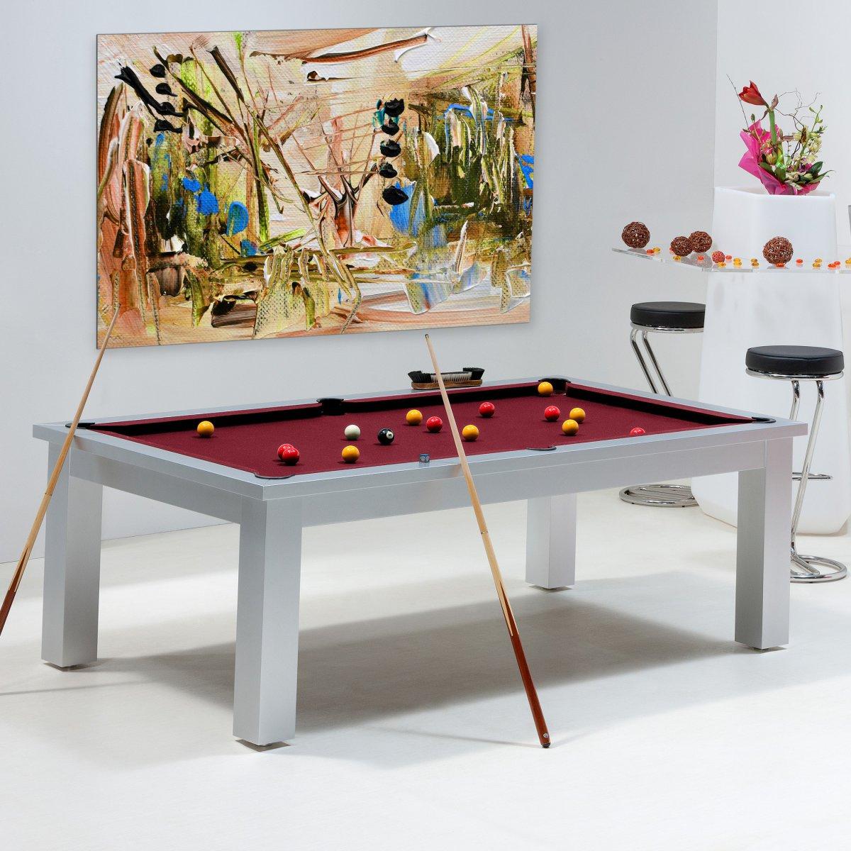 design  billard en bois massifs convertible table ou bureau memphis