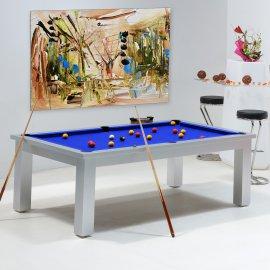 Table de billard transformable - Billard bleu royal