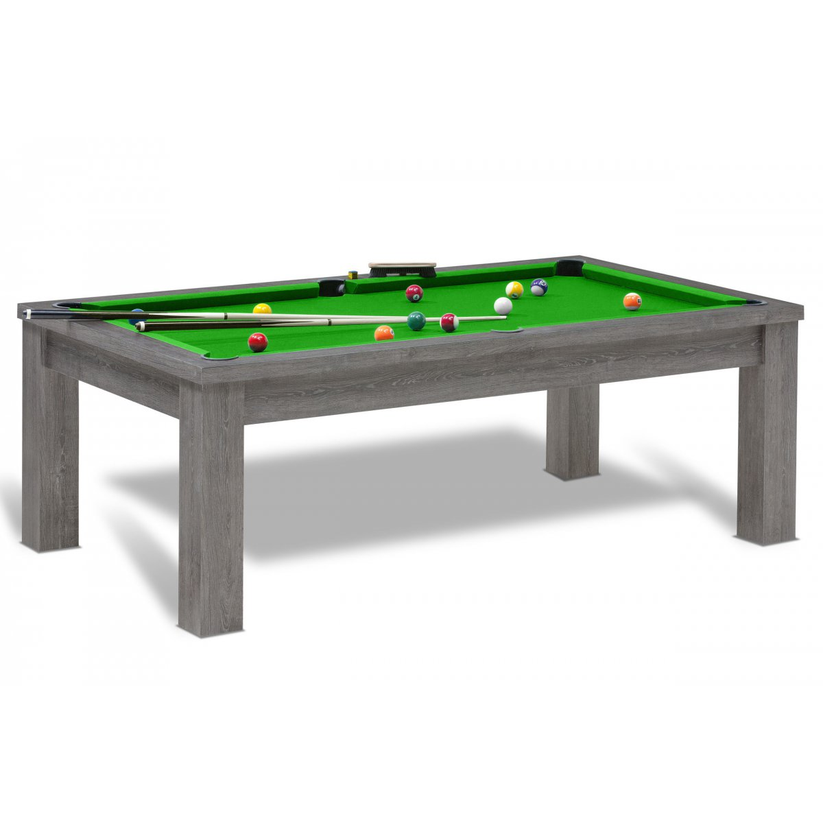 Billard am ricain table de jeu de billard us convertible for Table de salle a manger et billard
