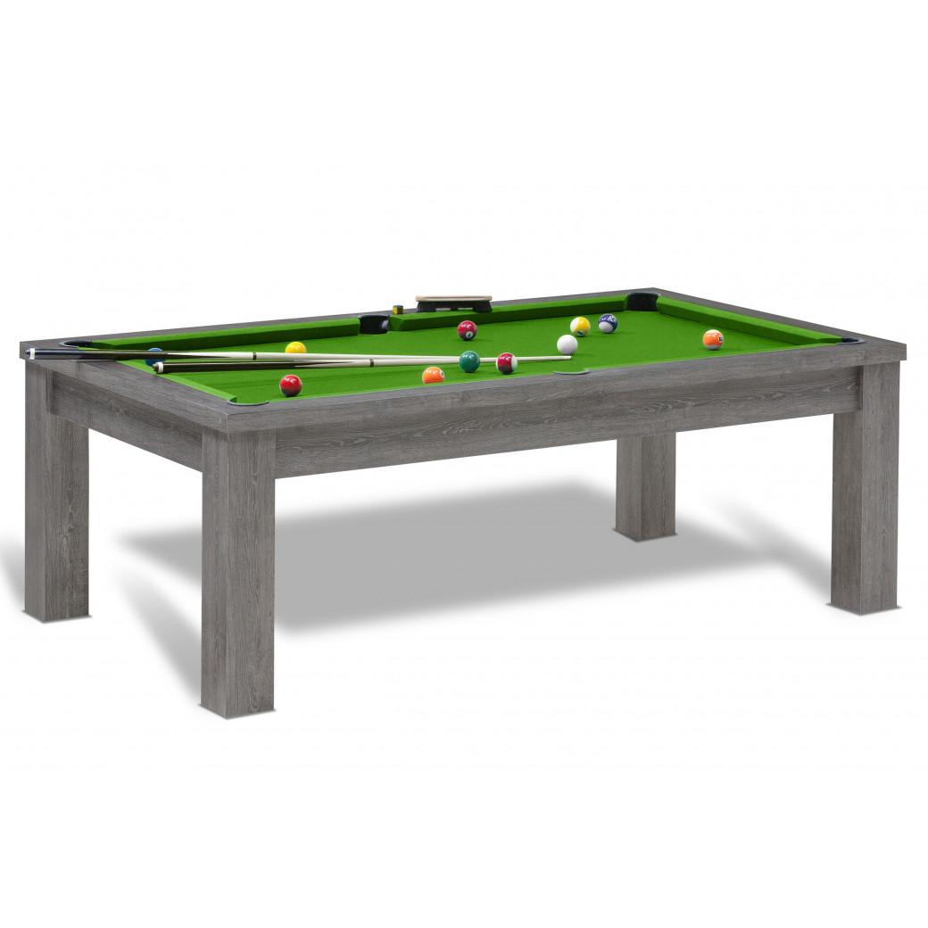 Billard americain vert pool, en option ce billard peut être convertible en table à manger.