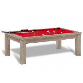 Billard americain transformable en table en bois pour salon, cuisine ou bureau