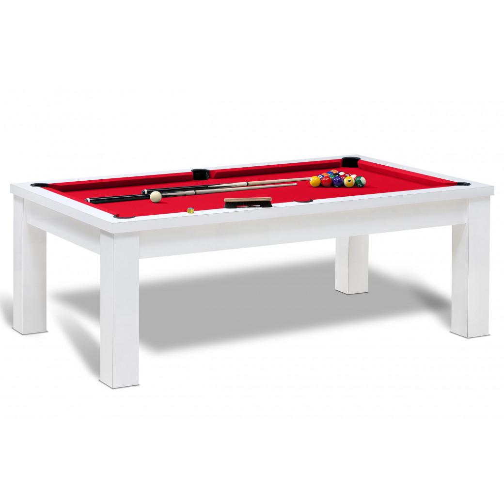 Prix billard americain sans supplément avec tapis standard de couleur rouge pour table de billard us.