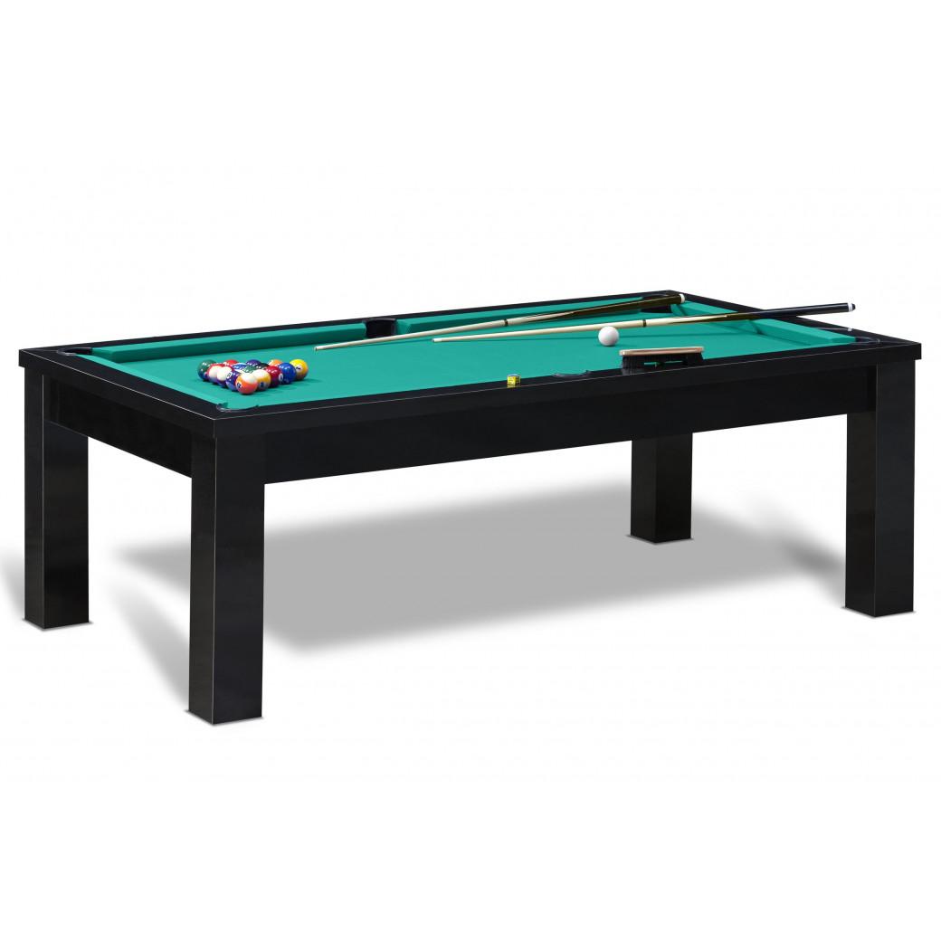 Billard americain avec en option billard convertible table, kit de jeu US complet avec billes, tapis de billard américain vert