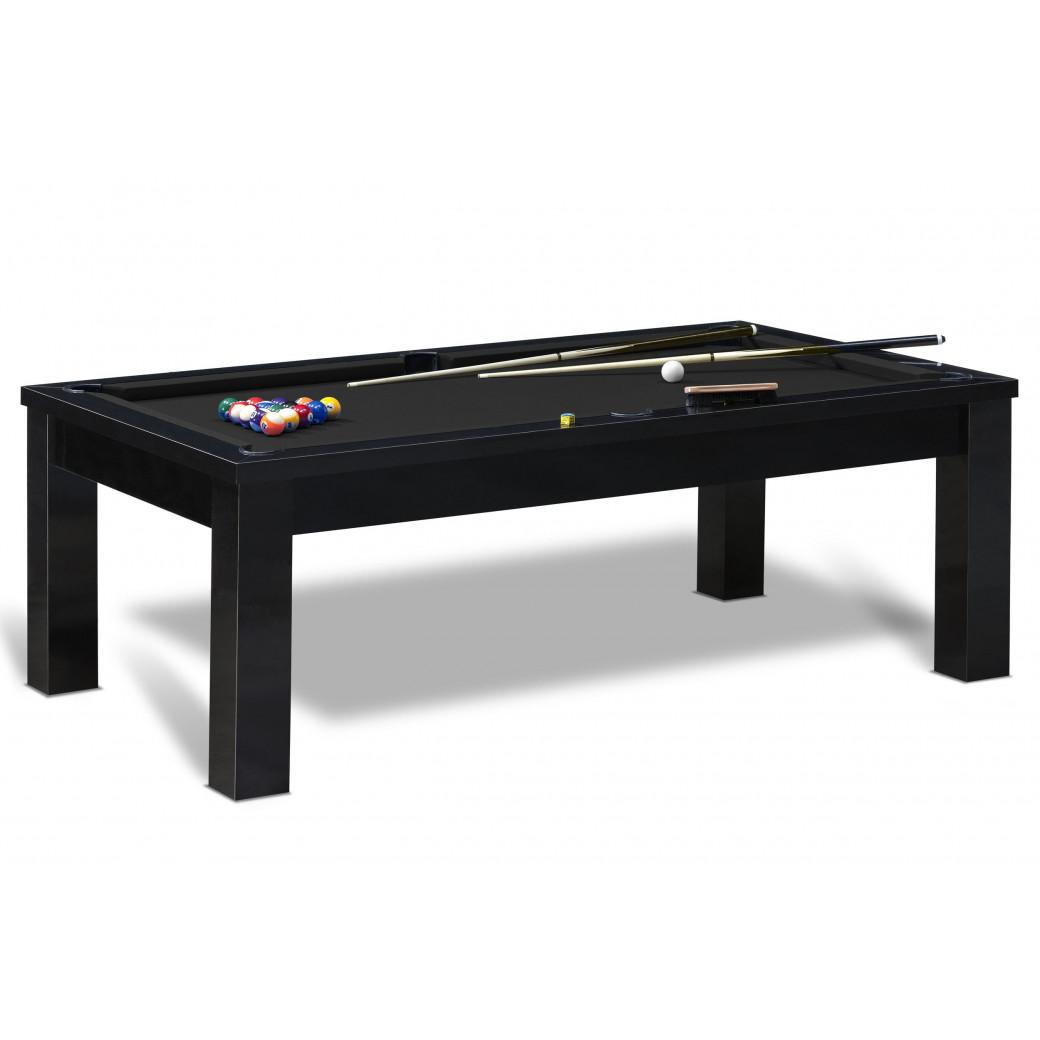 Table de billard américain avec tapis noir, table noire, accessoires et livraison offerte