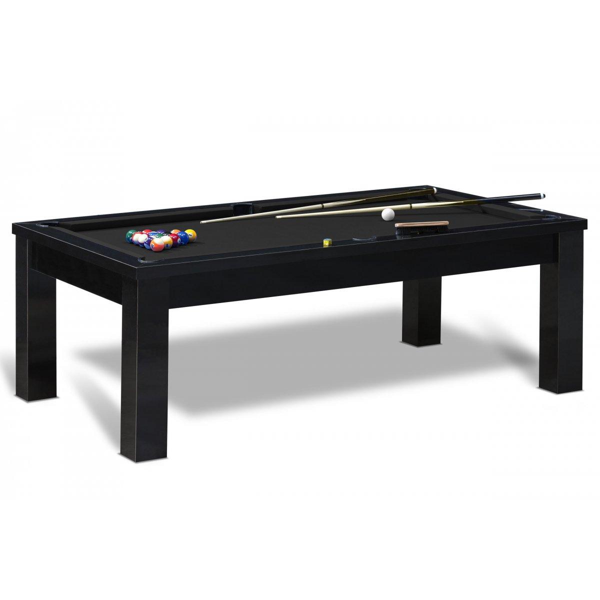 billard am ricain avec accessoires billard us table noire. Black Bedroom Furniture Sets. Home Design Ideas