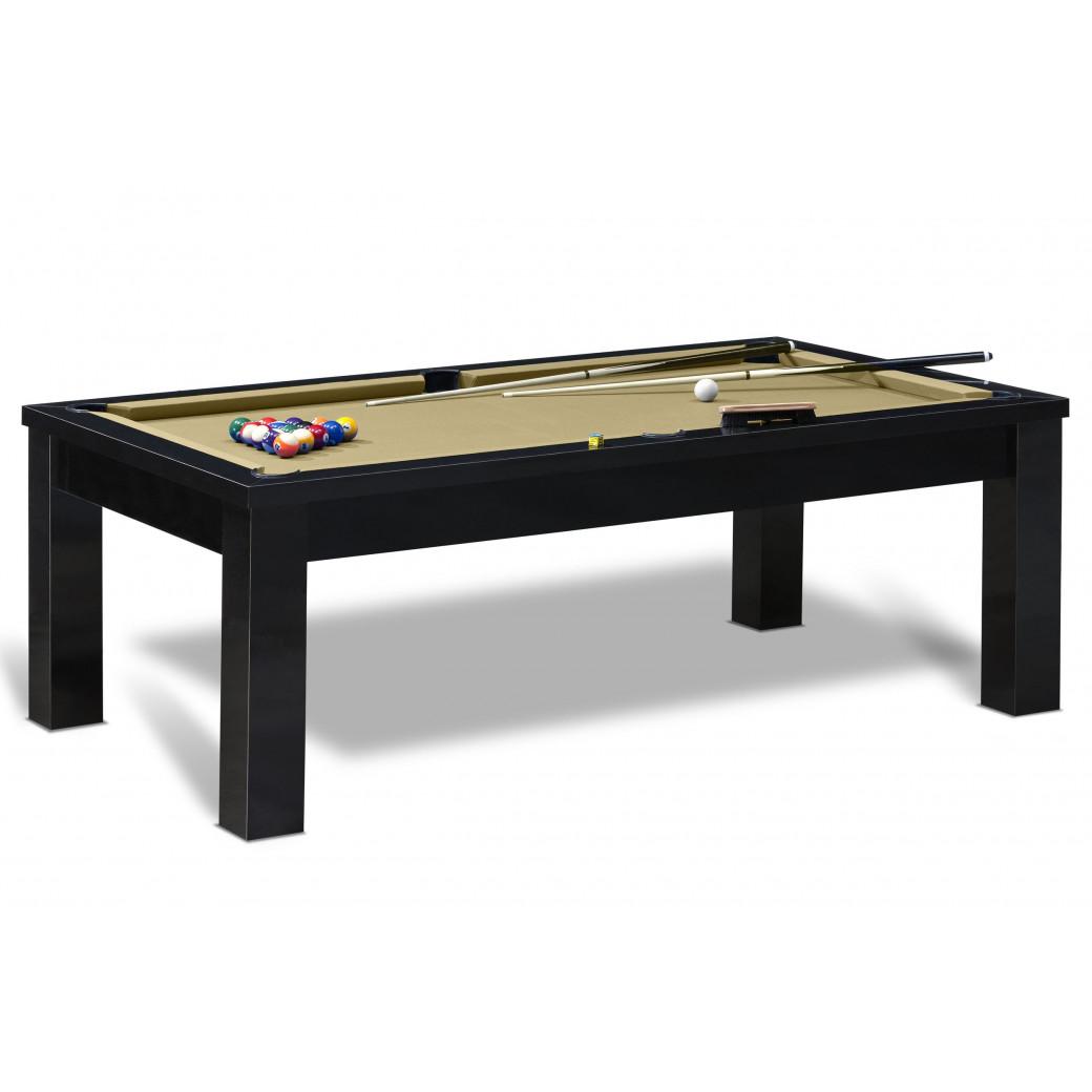 Apprendre le billard américain sur cette table billard US moderne et son tapis Gold de couleur or.