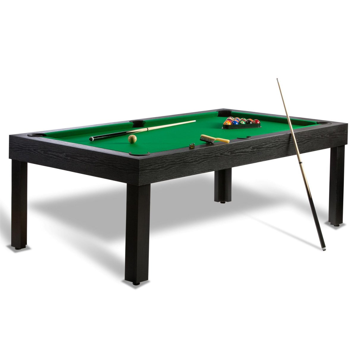 Billard americain us et billard pool convertible en table for Table de salle a manger et billard