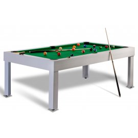 table de billard americain en bois blanc