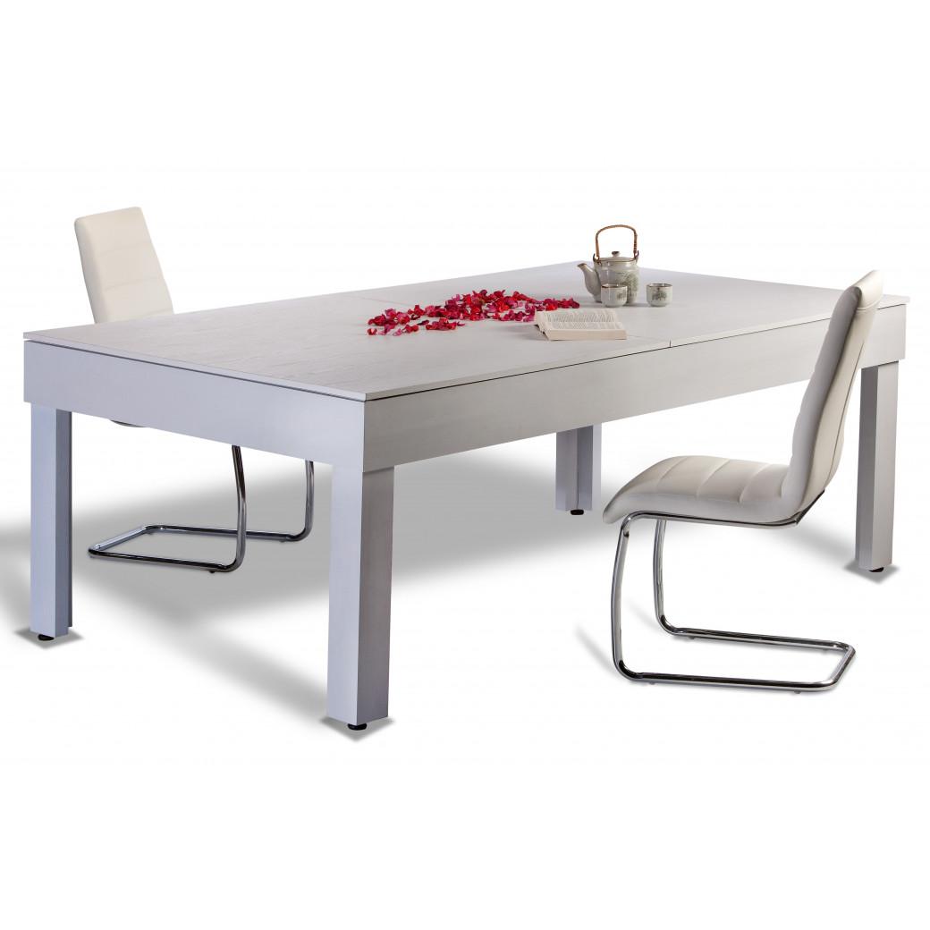 Billard americain convertible en table de salon pouvant accueillir 8 chaises