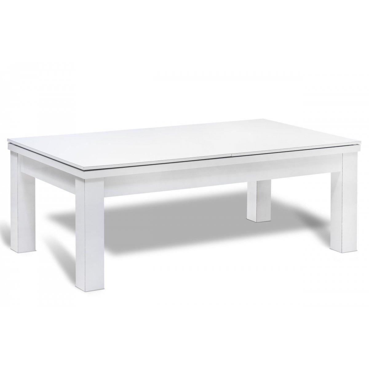 table billard transformable et dessus de table en bois blanc. Black Bedroom Furniture Sets. Home Design Ideas