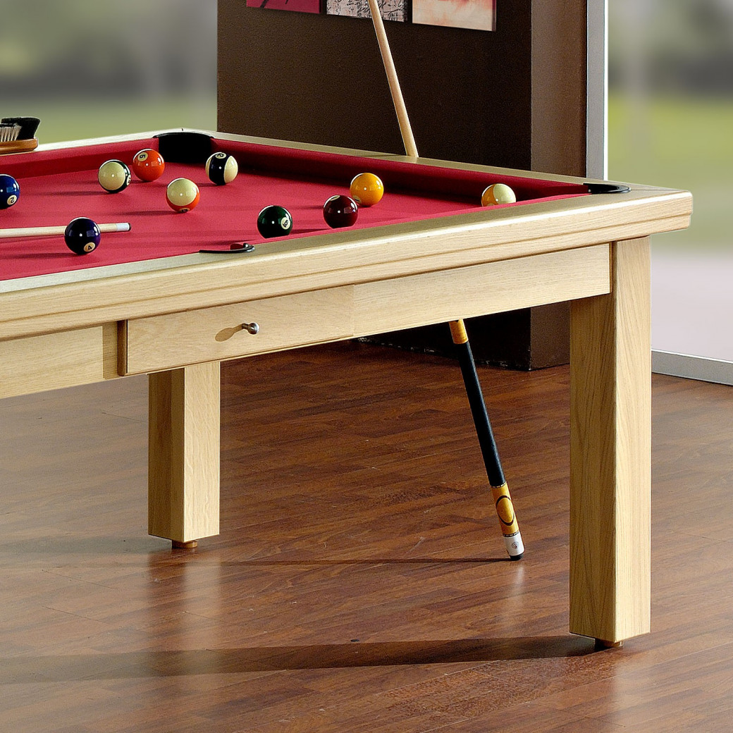 Table billard transformable, en bois