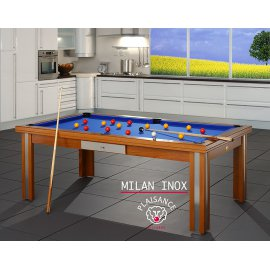 Table billard : modèle Milan inox