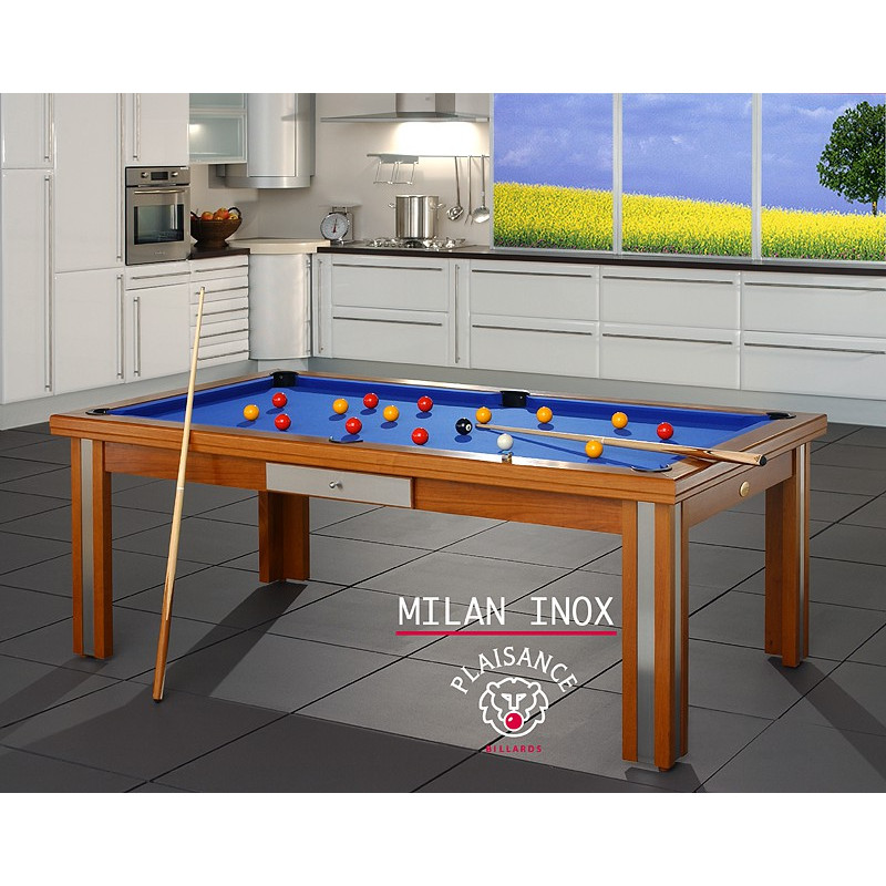 Billard Milan inox transformable en table