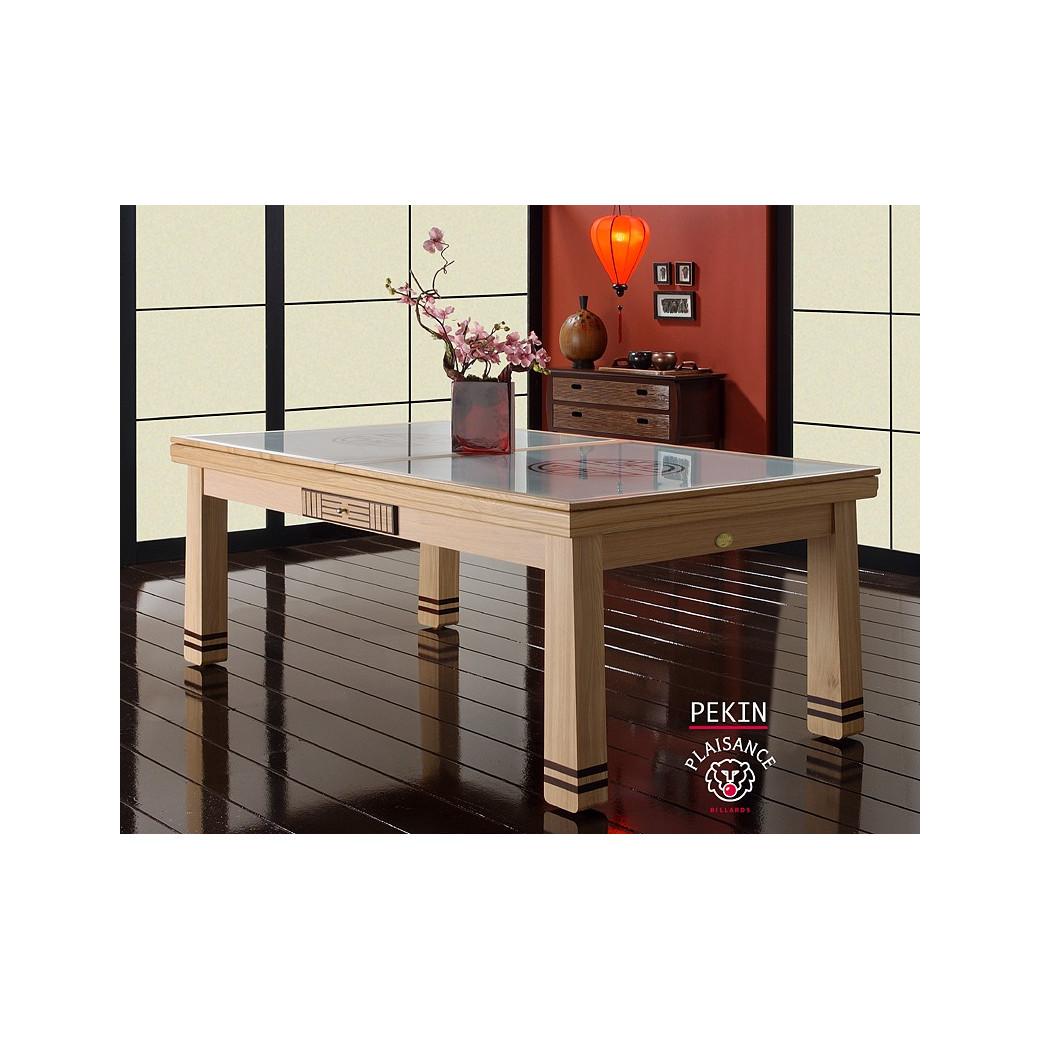 Billard table transformable avec pieds massifs munis de vérins pour mise à niveau