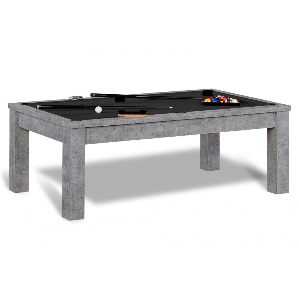 Table de billard convertible, avec drap de billard noir