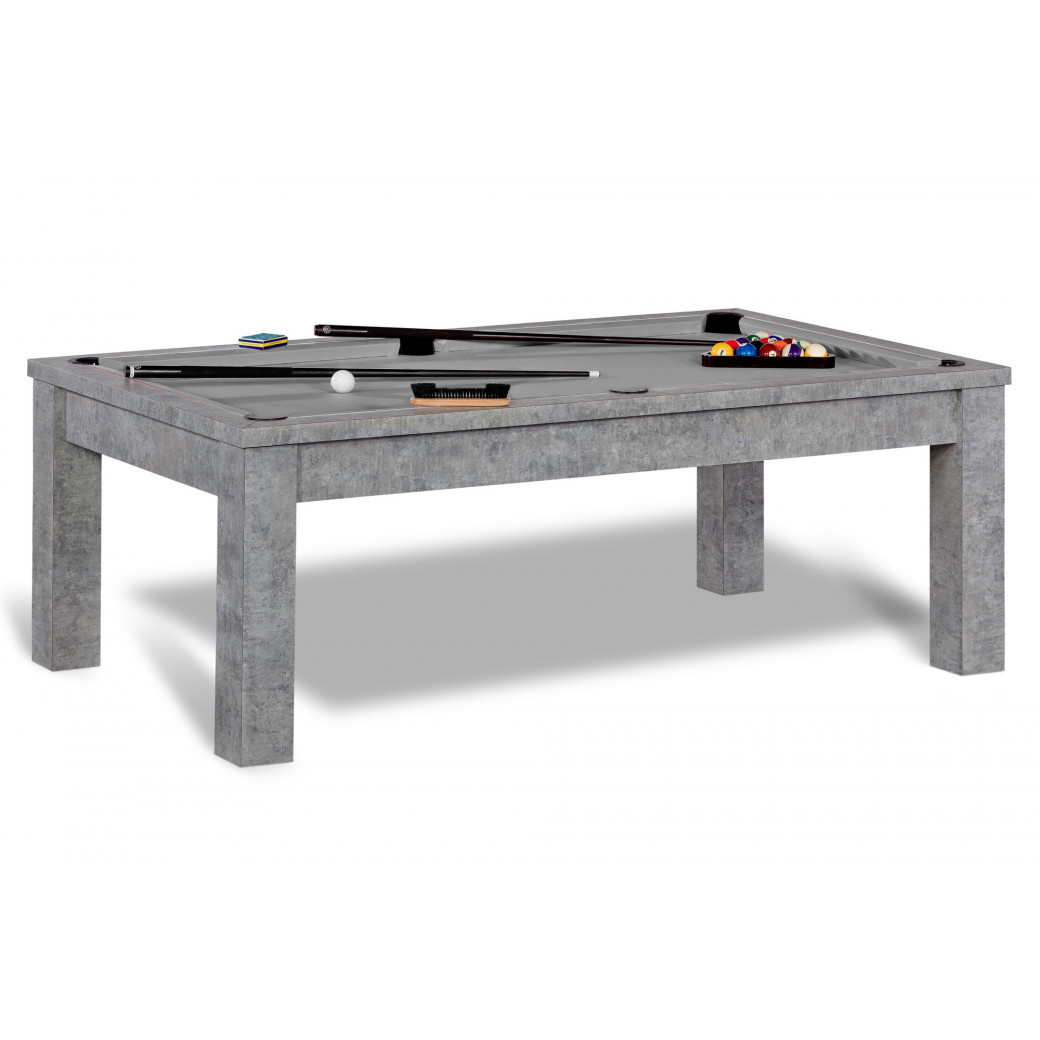 Table a manger billard, tapis gris pour table convertible