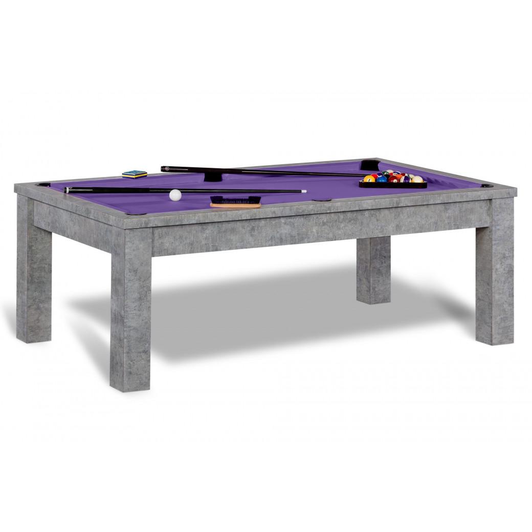 Table de billard, démarquez vous et jouez sur un tapis violet