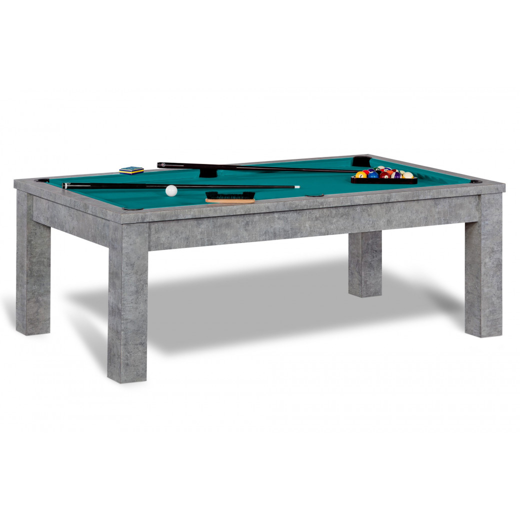 Billard americain, tapis vert bleu et table transformable