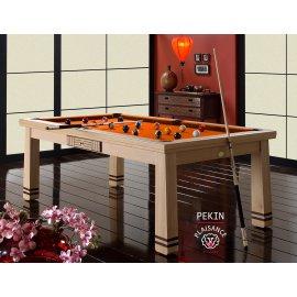 billard table, avec drap Simonis couleur orange