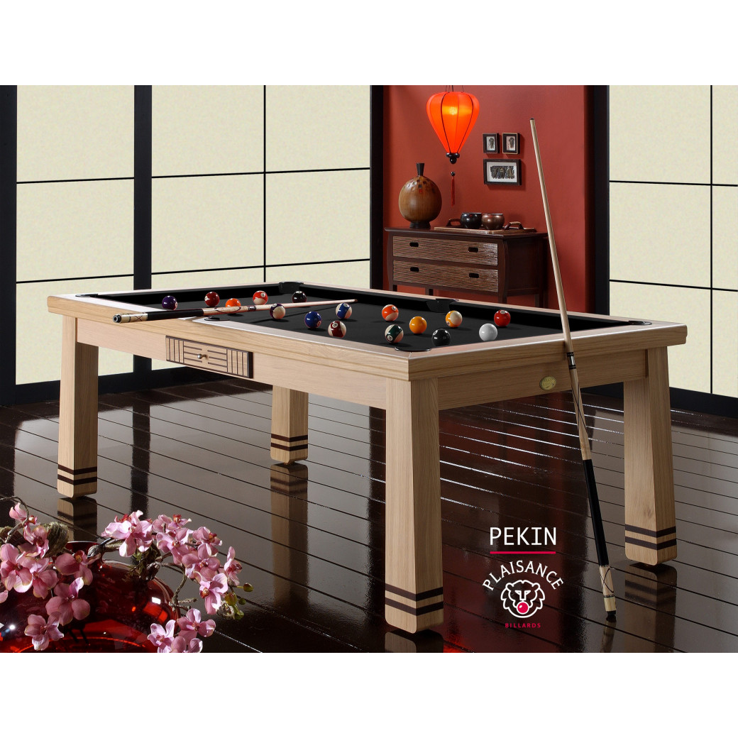 Billard table convertible, billard americain noir