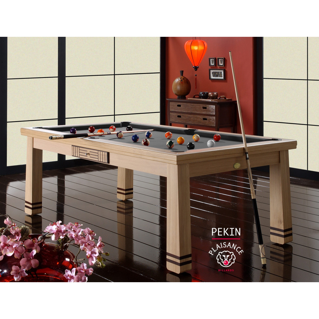 Table billard convertible table a manger, et son tapis gris