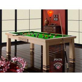 Table salle à manger billard, billard anglais ou français ou pool en vert pomme