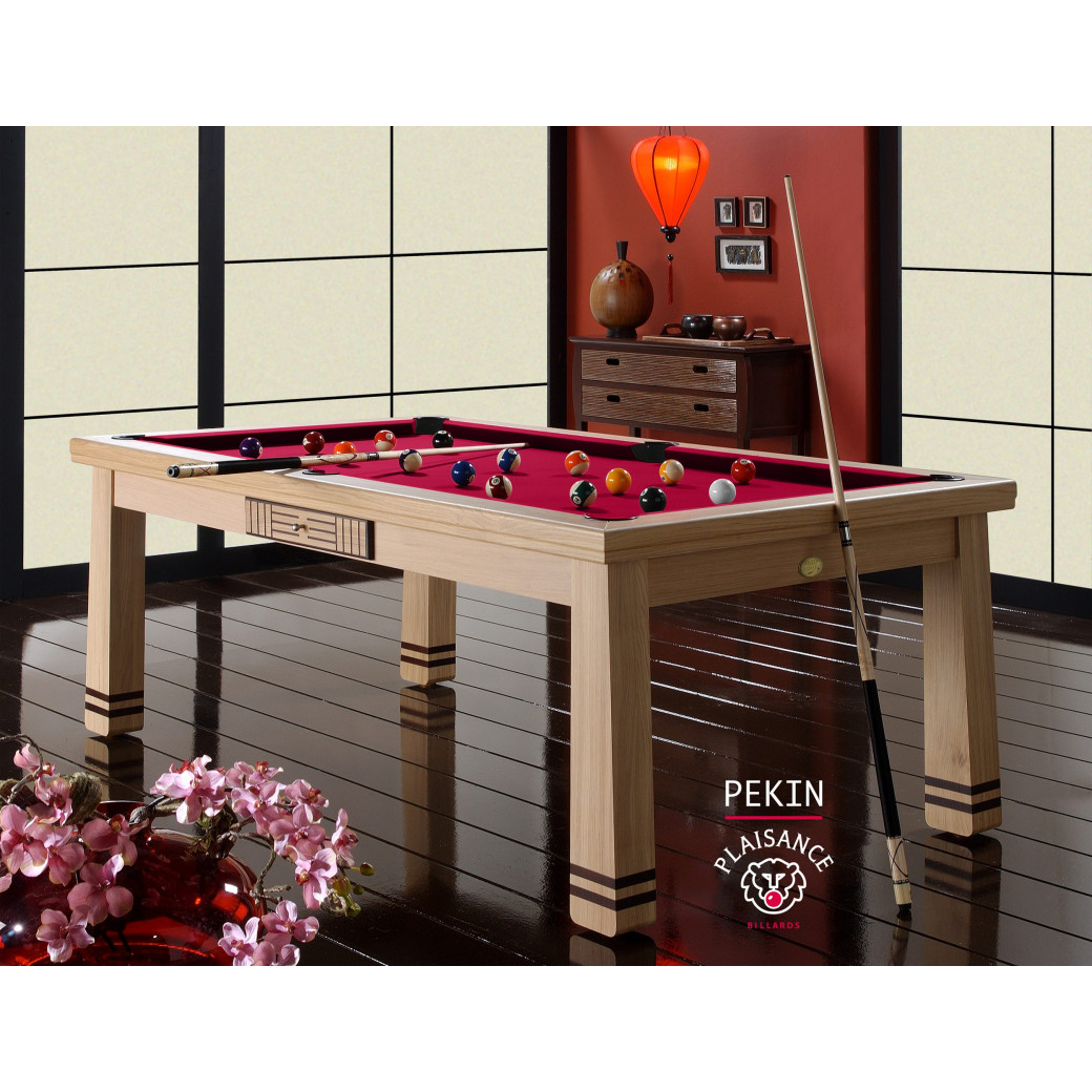 Table billard a manger, couleur de tapis rouge