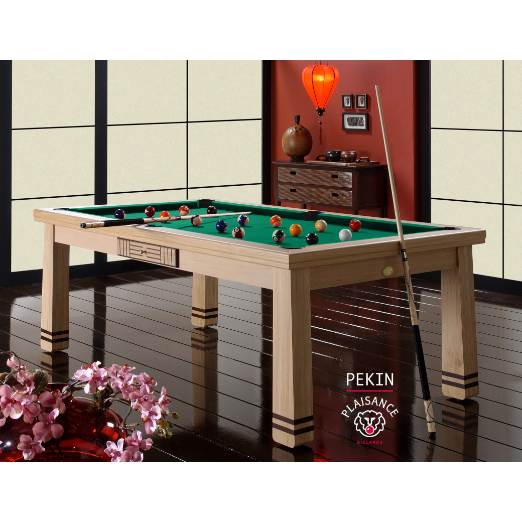 Billard de france, Pekin en billard table vert jaune
