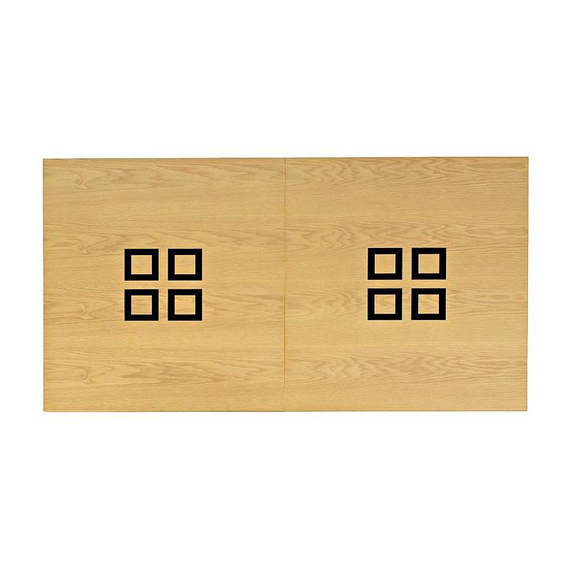 Table billard transformable, plateau table bois avec carré