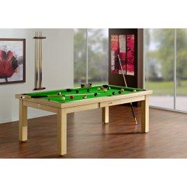 Table de billard, plateau table bois et tapis de billard vert pomme