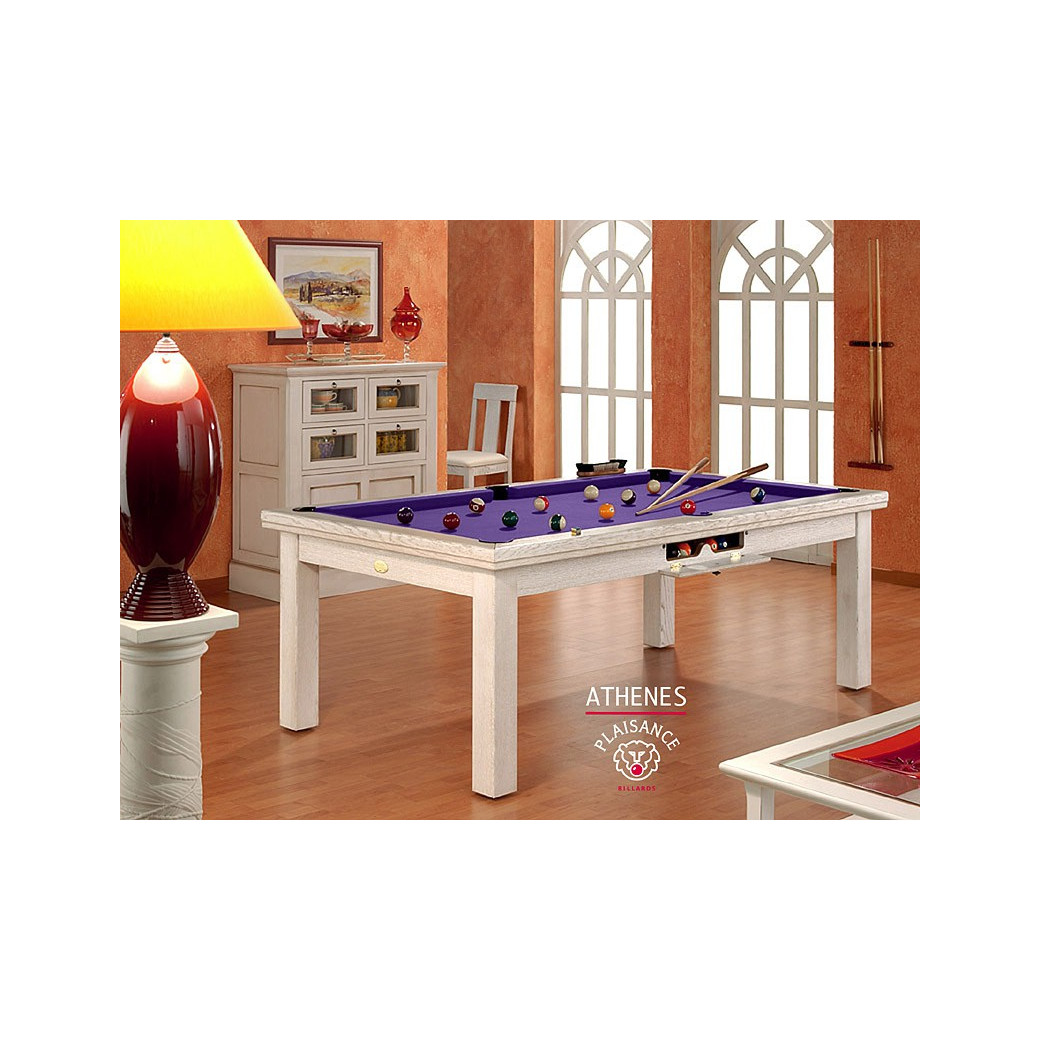 Billard: tapis violet pour billard design