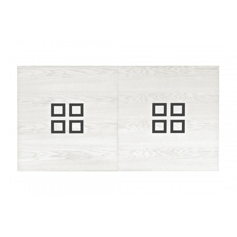Billard plateau : bois blanc avec carré sombre pour billard table a manger