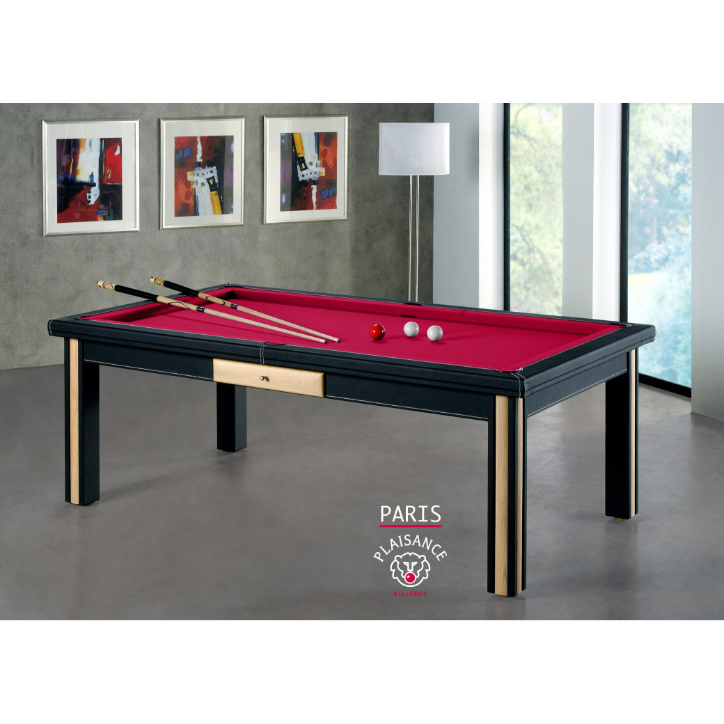 Paris billard, tapis billard rouge