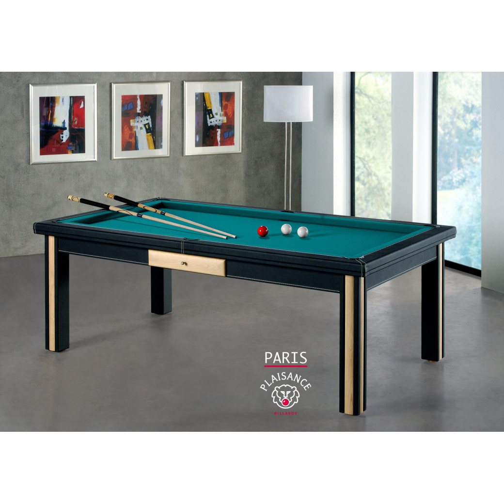 Table billard transformable, tapis vert bleu billard paris