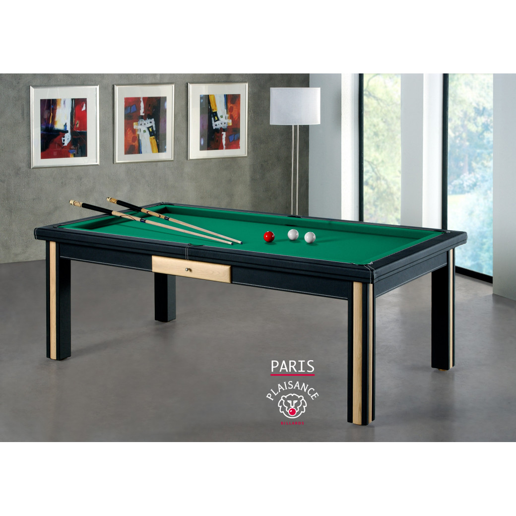 Table a manger billard, drap Simonis vert jaune billard paris