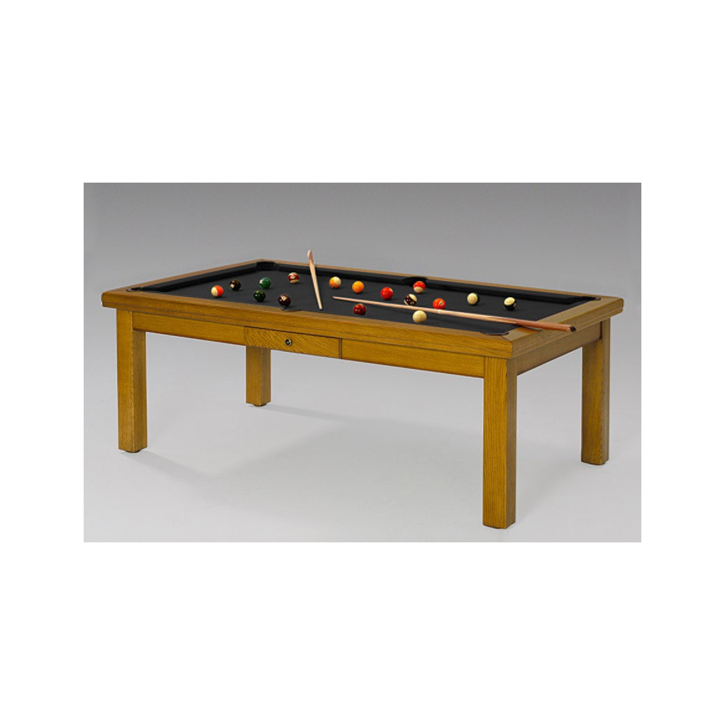 Table billard transformable, tapis noir contemporain