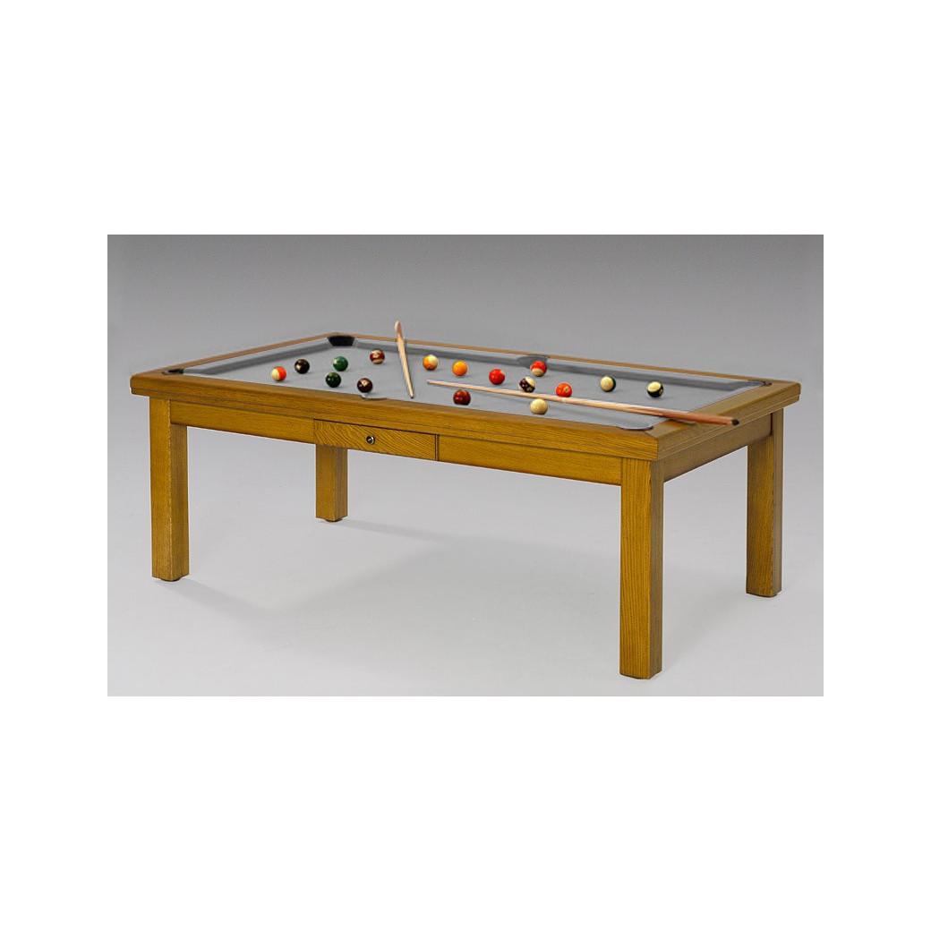 Billard table, tapis gris moderne et classe