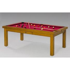 Table convertible billard, avec tapis rouge star