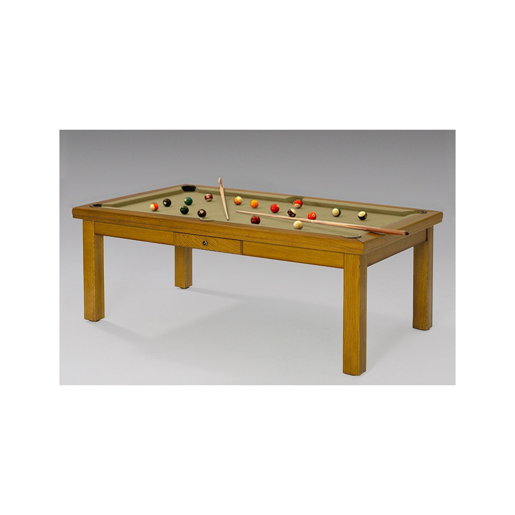 Table de billard, tapis gold pour un billard en or