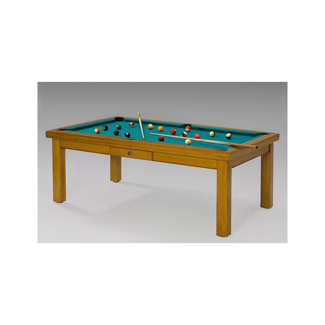 Billard convertible en table, tapis vert bleu pour faire des envieux